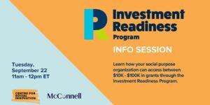 Investment Readiness Program Info Session event banner